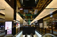 Australia, Victoria, Melbourne, Shopping Mall. Melbourne, VIC, Australia - November 03, 2017: Inside St. Collins Lane, a shopping mall with different shops, cafe Stock Image