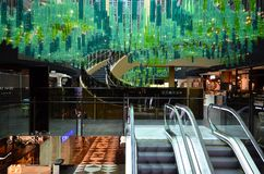 Australia, Victoria, Melbourne. Melbourne, VIC, Australia - November 03, 2017: Inside St. Collins Lane, a shopping mall with different shops, cafe`s and Stock Images