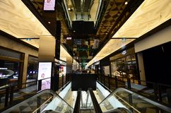 Australia, Victoria, Melbourne. Melbourne, VIC, Australia - November 03, 2017: Inside St. Collins Lane, a shopping mall with different shops, cafe`s and Stock Photos