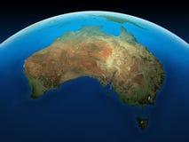 Australia vista de espacio Foto de archivo libre de regalías