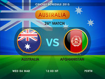 Australia vs Afghanistan match schedule. Royalty Free Stock Photos