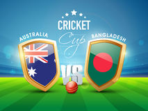 Australia Vs Bangladesh Cricket match concept. Stock Photography