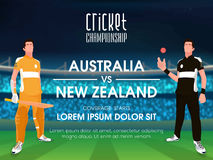 Australia VS New Zealand Cricket Match concept. Stock Images