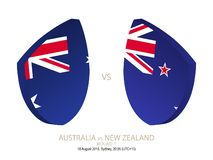 Australia vs New Zealand, 2018 Rugby Championship, round 1. Australia vs New Zealand, 2018 Rugby Championship, round 1 stock illustration