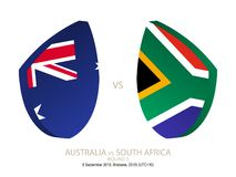 Australia vs South Africa, 2018 Rugby Championship, round 3. Australia vs South Africa, 2018 Rugby Championship, round 3 stock illustration