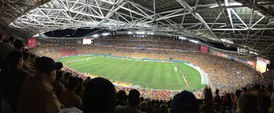 Australia vs South Korea. Asian Cup Final 2015 Royalty Free Stock Image