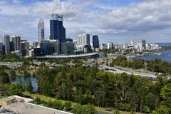 Australia, WA, Perth, cityscape with Swan river Royalty Free Stock Image