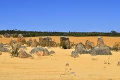 Australia, WA, The Pinnacles in Nambung National Park. Preferred tourist attraction and natural landmark royalty free stock image