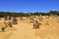 Australia, WA, The Pinnacles in Nambung National Park. Preferred tourist attraction and natural landmark royalty free stock photo