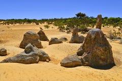 Australia, WA, Pinnacles, Nambung NP. Australia, WA, The Pinnacles in Nambung National Park, preferred tourist attraction and natural landmark stock photography