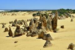 Australia, WA, Pinnacles, Nambung NP. Australia, WA, The Pinnacles in Nambung National Park, preferred tourist attraction and natural landmark stock photos