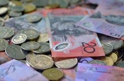 Australia waluta - Australijski pieniądze Fotografia Royalty Free