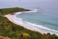 Australia - Warilla Beach. In New South Wales. Coast and Tasman Sea Royalty Free Stock Image