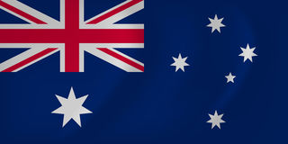 Australia waving flag Royalty Free Stock Photography