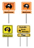 Australia welcome signs Royalty Free Stock Images