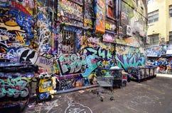 Australia, Wiktoria, Melbourne, graffiti Obrazy Royalty Free