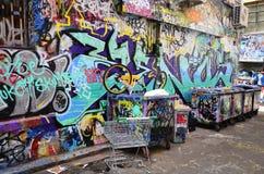 Australia, Wiktoria, Melbourne, graffiti Zdjęcia Stock