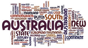 Australia words cloud Royalty Free Stock Photography