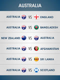 Australia 2015 World Cup match schedule. Royalty Free Stock Image
