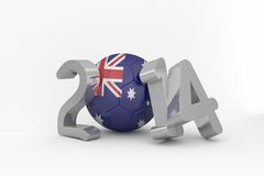 Australia world cup 2014. On white background Stock Images