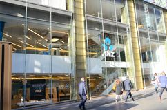 Australia y el anz de Nueva Zelanda ejercen la actividad bancaria en la rama de Martin Place en el centro de Sydney fotos de archivo libres de regalías