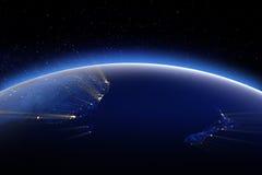 Australia y nuevo Zeland Elementos de esta imagen equipados por el NA ilustración del vector