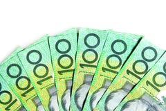 Australian $100 Bills. On white background