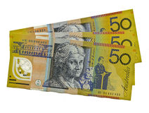 Australian $50 featuring Edith Cowan. 3 x Australian $50 featuring Edith Cowan. copyspace stock photography