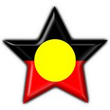 Australian Aboriginal button flag star shape. 3d made Australian Aboriginal button flag star shape Stock Image