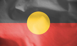 Australian Aboriginal Flag. Royalty Free Stock Photography