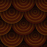 Australian aboriginal geometric art concentric circles seamless pattern in orange brown and black, vector. Background Stock Illustration