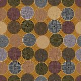 Australian aboriginal seamless pattern with dotted circles on dotted background. Australian aboriginal seamless pattern with colorful dotted circles on dotted Royalty Free Illustration