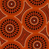 Australian aboriginal seamless vector pattern with dotted circles and crooked squares. Australian aboriginal seamless vector pattern with colorful dotted circles vector illustration