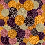 Australian aboriginal seamless vector pattern with dotted circles. Australian aboriginal seamless vector pattern with colorful dotted circles Vector Illustration