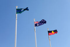 Australian Aboriginal Torres Strait Flags royalty free stock photo