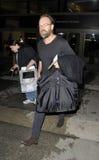 Australian actor Hugo Weaving at LAX Royalty Free Stock Photo