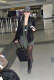 Australian actress Abbey Cornish at LAX airport Stock Photos