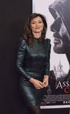 Australian Actress Essie Davis. Luscious, stylish Australian actress Essie Davis arrives for the New York premiere of `Assassin`s Creed,` on December 13, 2016 stock photography