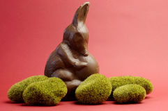 Australian alternative to the Easter bunny rabbit, a chocolate Bilby holding an egg Stock Photos