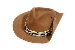 Australian or american cowboy hat. Traditional wild west suede outback cowboy hat Royalty Free Stock Photography