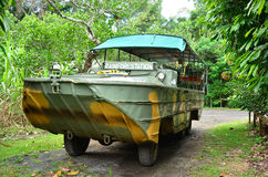 Australian amphibious vehicle DUKW drive in Queensland Australia Royalty Free Stock Images