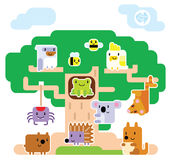 Australian Animal Tree House Royalty Free Stock Images