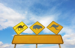 Australian Animals Road Sign Royalty Free Stock Photos