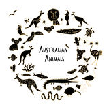 Australian animals set, sketch for your design Stock Image