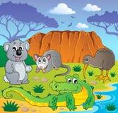 Australian animals theme 3. Vector illustration Royalty Free Stock Image