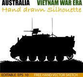 Australian Armored Personnel Carrier from 1960`s. An Australian APC troop carrier as used in the Vietnam war on onwards by the Australian Army. 50 cal machine royalty free illustration