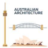 Australian Architecture. Modern flat design. Vector illustration. Stock Images
