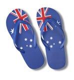 Australian Australia Day Flag Thongs Royalty Free Stock Images