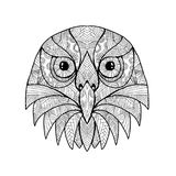Australian Barking Owl Mandala. Mandala style illustration of a head of an Australian Barking Owl, Ninox connivens or winking owl viewed from front on isolated vector illustration