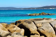 Australian Beach. Beach at Binalong Bay, Tasmania, Australia Stock Images
